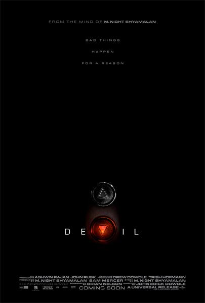 Primer cartel de Devil, producción de M. Night Shyamalan
