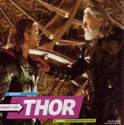 Nueva imagen más reconfortante si cabe de Thor (Chris Hemsworth) y Odín (Anthony Hopkins)
