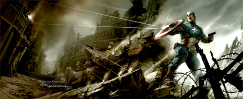 Concept Art de Captain America: The First Avenger para la Comic-Con 2010 obra de Ryan Meinerding
