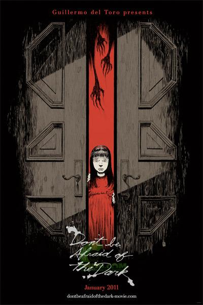 El cartel de Don't Be Afraid of the Dark dibujado por Troy Nixey