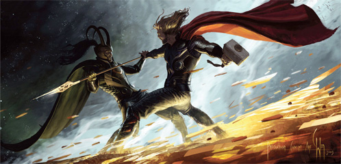 Concept Art de Thor para la Comic-Con 2010 obra de Charlie Wen