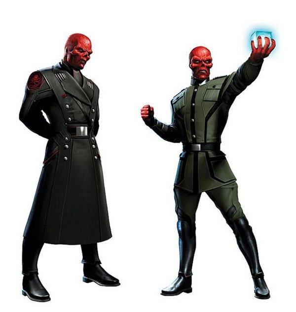 Diseños del aspecto que lucirá Red Skull (Hugo Weaving) en Captain America: The First Avenger
