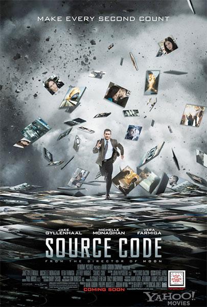 Primer desastroso cartel de Código fuente (Source Code)