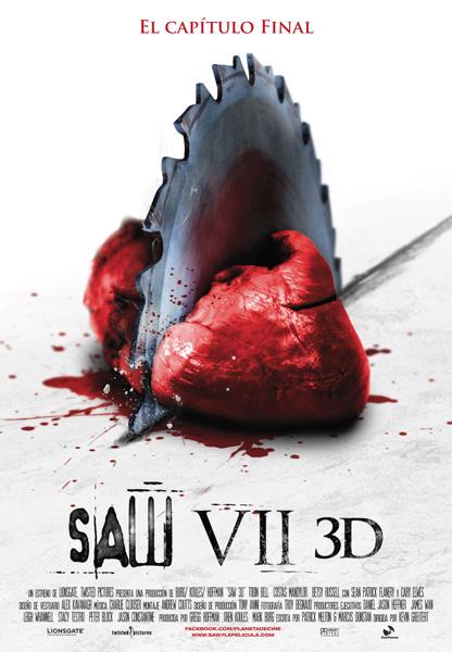 Cartel español de Saw VII 3D