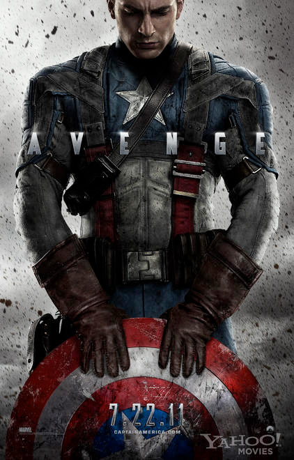 Primer cartel de Captain America: The First Avenger!!!