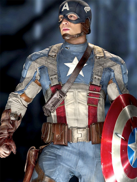 Un mucho mejor vistazo al traje de Steve Rogers en Captain America: The First Avenger