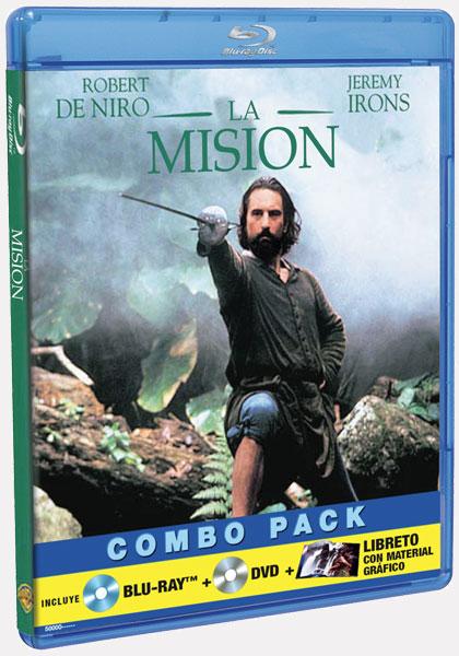 Portada de la edición en Blu-Ray de La misión