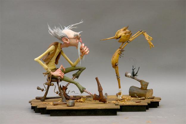 Las marionetas que veremos en el Pinocchio stop-motion que prepara Guillermo del Toro