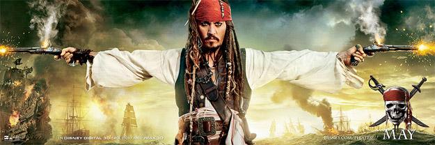 Nuevo cartel de Piratas del Caribe: en mareas misteriosas