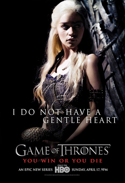 "Cartel de ""Game of Thrones"": Daenerys Targaryen"
