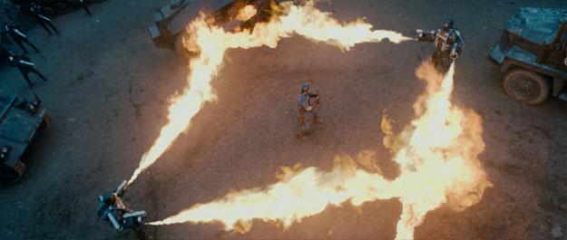 El Capitán América vs. los hombres de Hydra