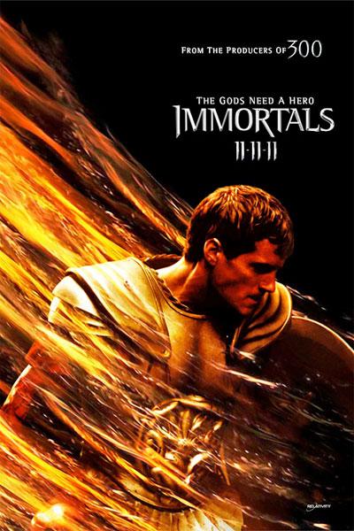 Cartel de Immortals de Tarsem Singh. Henry Cavill como Teseo