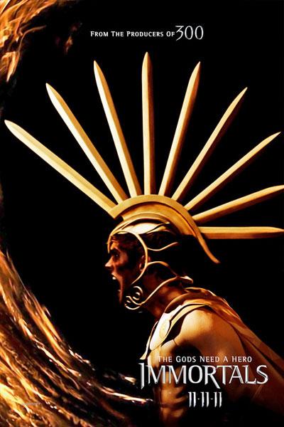 Cartel de Immortals de Tarsem Singh. Daniel Sharman como Ares