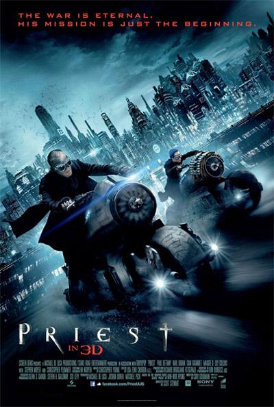 Otro cartel más de El sicario de dios, la no adaptación de Priest