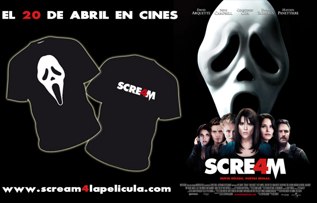 Scream 4, el 20 de abril en cines