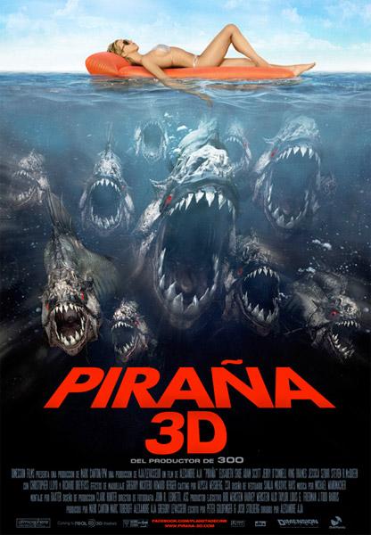 Cartel español de Piraña 3D