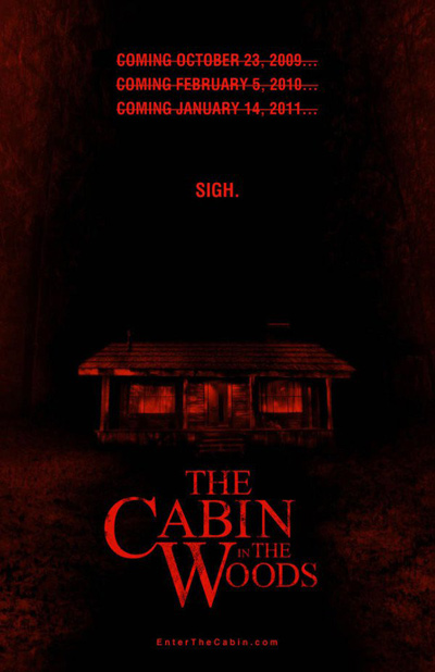 Póster campaña de The Cabin in the Woods