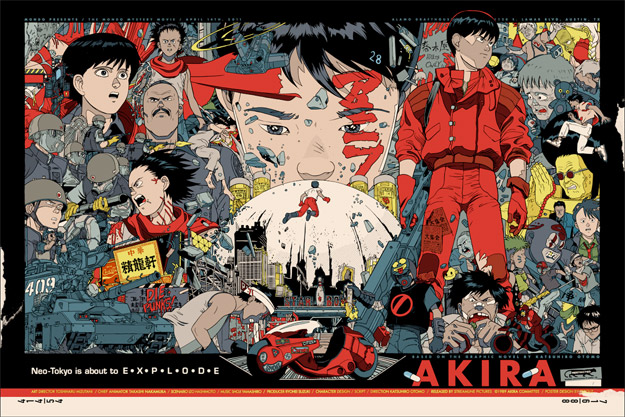Magistral cartel de Akira realizado por Tyler Stout para los cines Alamo Drafthouse