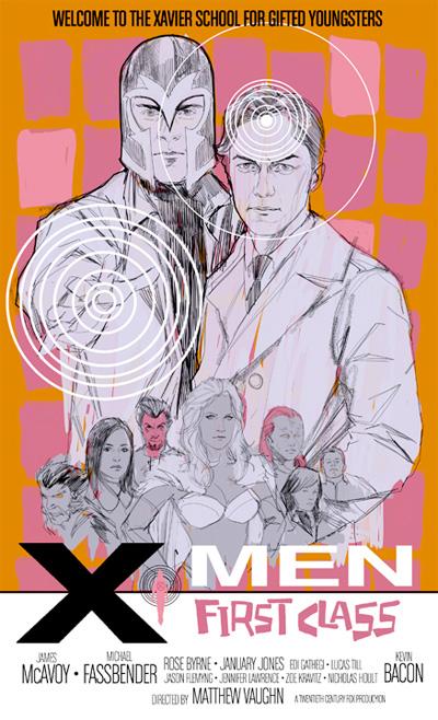 Cartel de X-Men: primera generación por Phil Noto