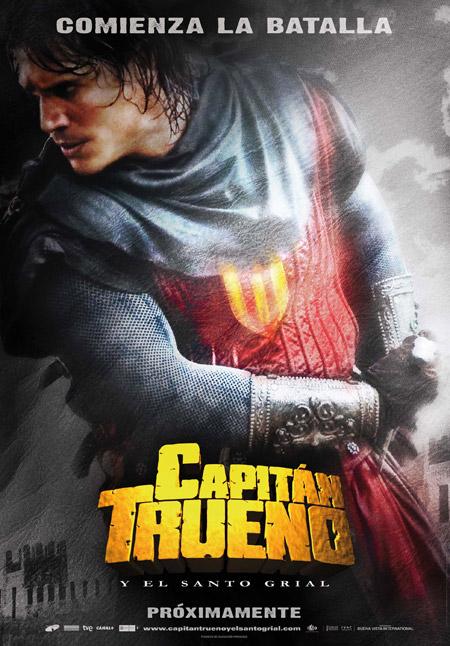 Primer cartel de Capitán Trueno y el Santo Grial