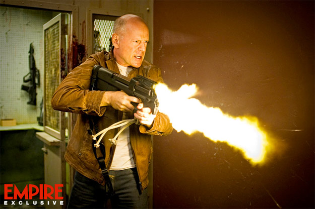 Primera imagen oficial de Looper, Bruce Willis dando candela