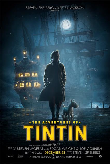 Segundo cartel de Las aventuras de Tintín: El secreto del Unicornio