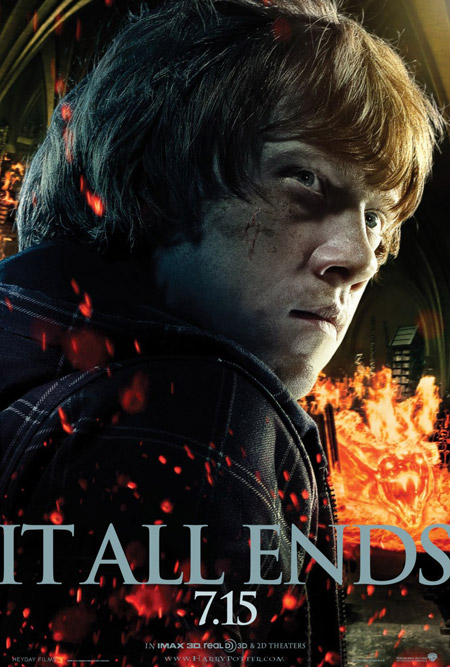 Nuevo cartel de Harry Potter y las reliquias de la muerte (2ª parte)... Ron Weasley