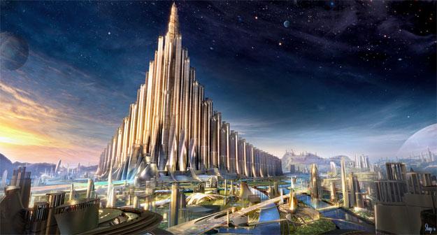 Concept Art de Thor: el palacio de Odín