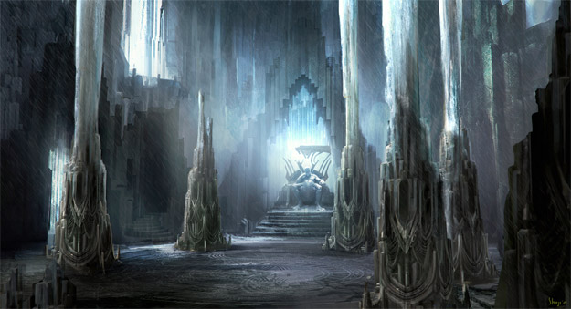 Concept Art de Thor: la sala del trono de Laufey