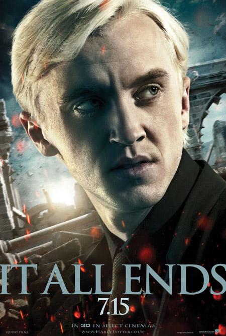 Nuevo cartel de Harry Potter y las reliquias de la muerte (2ª parte)... Drako Malfoy
