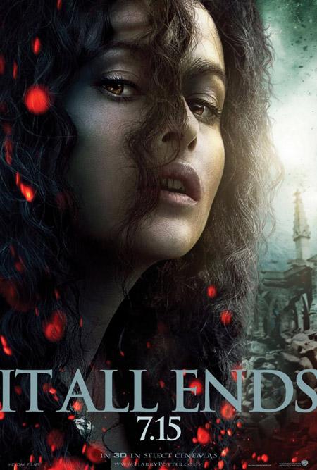 Nuevo cartel de Harry Potter y las reliquias de la muerte (2ª parte)... Bellatrix Lestrange