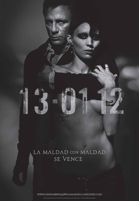 El cartel español de Los hombres que no amaban a las mujeres
