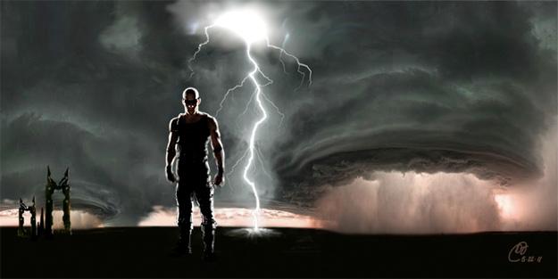 Concept Art de Riddick gracias al bueno de David Twohy