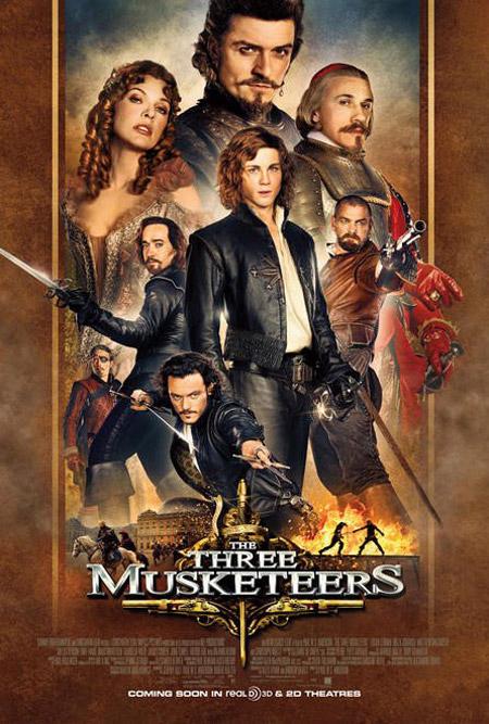 Primer cartel de The Three Musketeers... porque es ciencia ficción