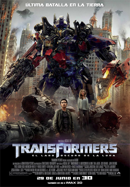 Cartel de Transformers: el lado oscuro de la luna