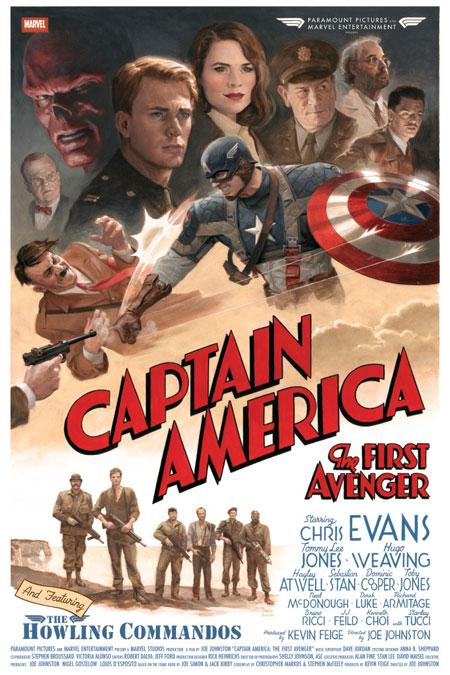 Fabuloso cartel vintage de Captain America: The First Avenger