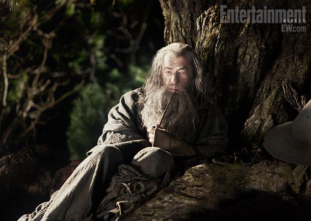 Gandalf el Gris medita mientras fuma hierba de la Comarca