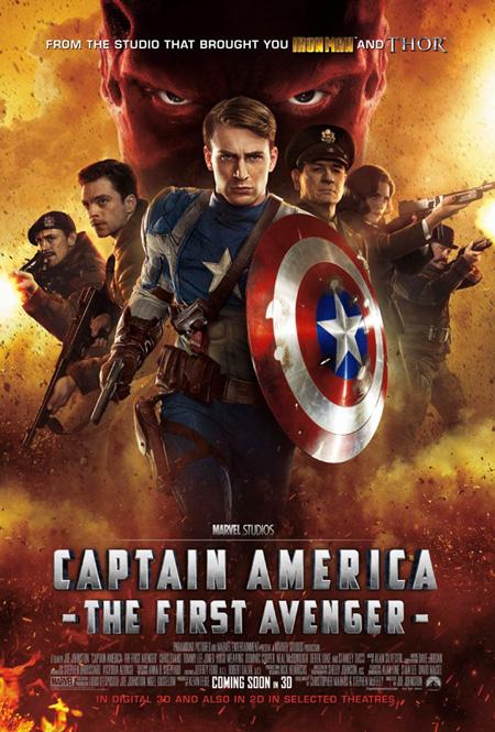 Cartel de Capitán América: el primer vengador