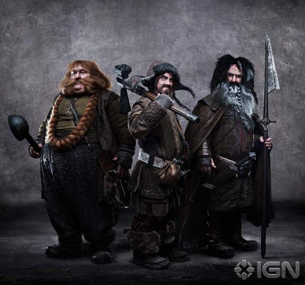 Stephen Hunter como Bombur, James Nesbitt como Bofur y William Kircher como Bifur