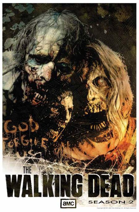 Cartel para promocionar la segunda temporada de The Walking Dead