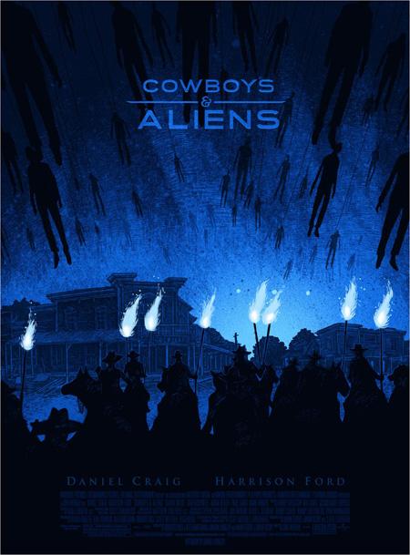 Cartel de Cowboys & Aliens para la Comic-Con de San Diego 2011