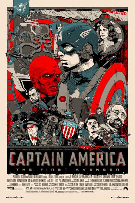 Cartel de Capitán América: el primer vengador por Tyler Stout