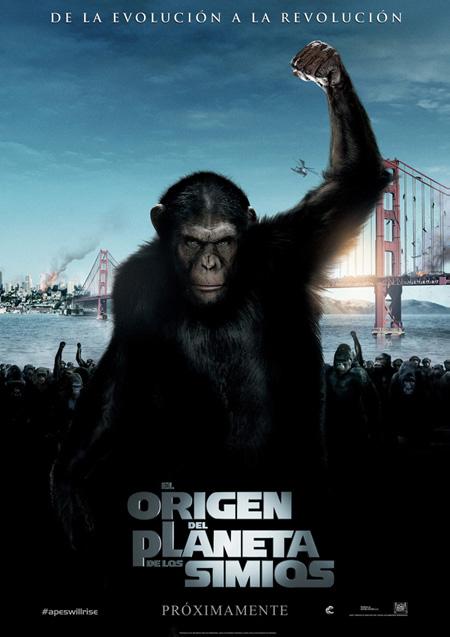 Cartel español de El origen del planeta de los simios