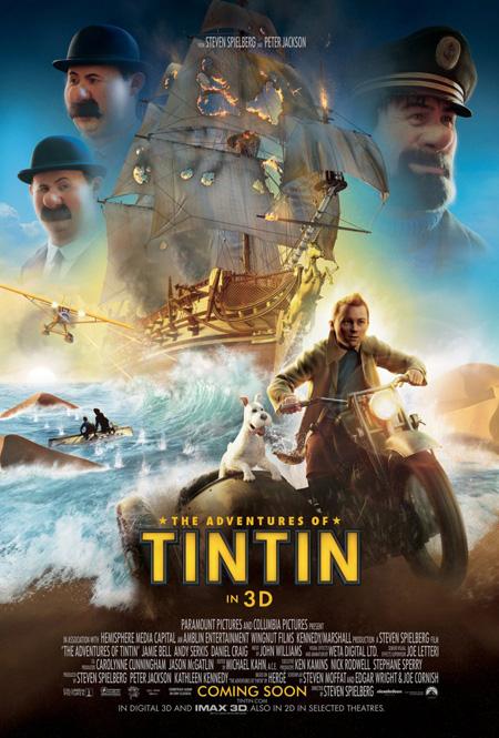 Nuevo genial cartel de Las aventuras de Tintín: el secreto del Unicornio