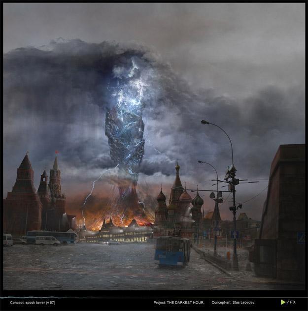 The Darkest Hour: La torre alien, una de las misteriosas centrales que guardan el secreto de los invasores