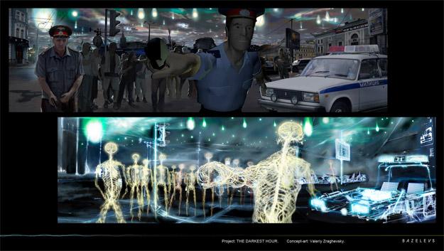 The Darkest Hour: La forma en el que los aliens ven a los humanos... fuentes de energía nerviosa