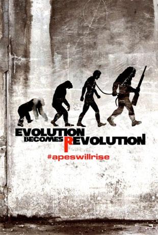 Un par de simpáticos carteles de El origen del planeta de los simios