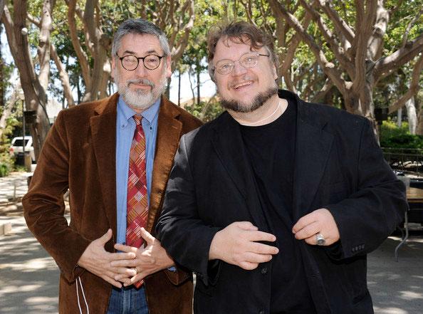 John Landis y Guillermo del Toro, gente curiosa
