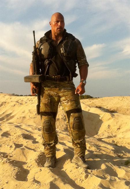 """Dwayne """"The Rock"""" Johnson como Roadblock en G.I. Joe 2: Retaliaton"""