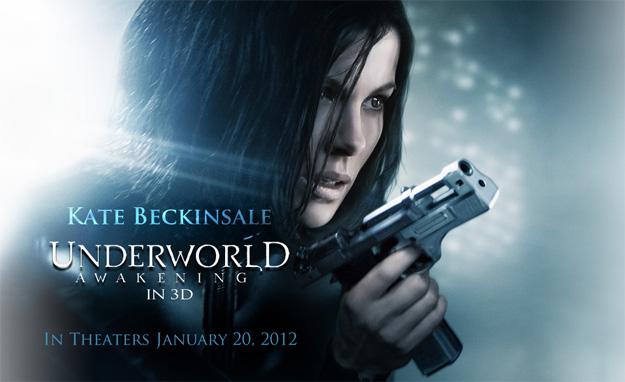 Banner promo de Underworld: Awakening cortesía de Sony Pictures